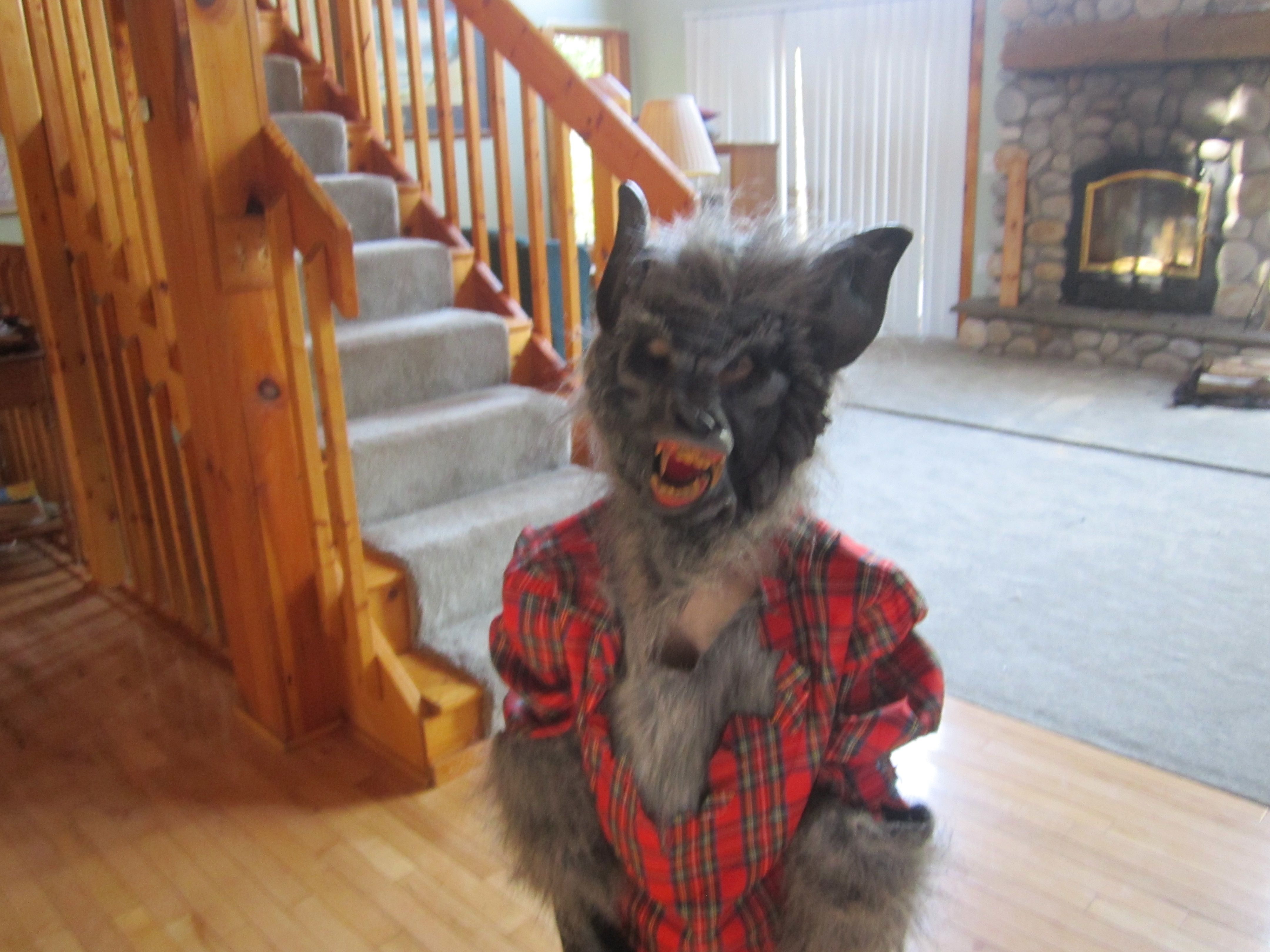 My youngest in his Werewolf Costume & Lessons Learned while Shopping for Halloween Costumes u2013